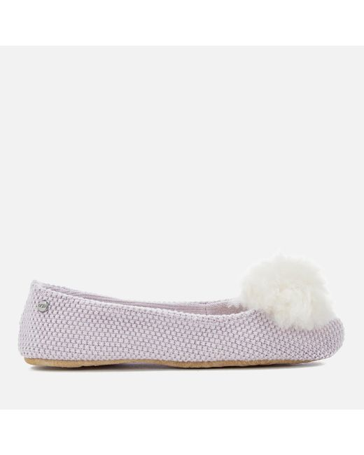 Ugg - Purple Andi Cotton Knitted Slippers - Lyst