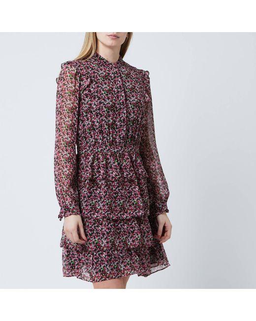 81a339137ed9e MICHAEL Michael Kors - Pink Floral Shirt Dress - Lyst ...