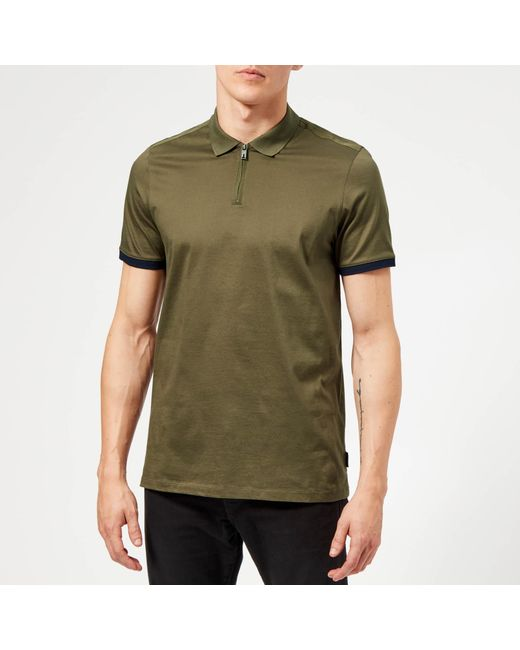 dd48a286b Ted Baker - Green Snika Polo Shirt for Men - Lyst ...