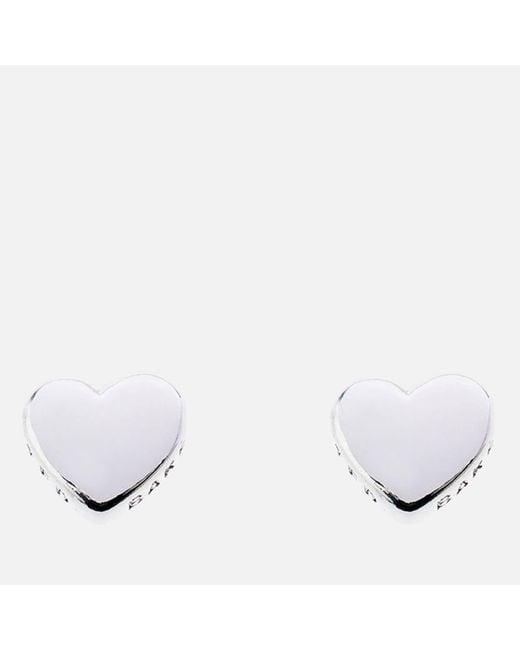 Ted Baker - Metallic Harly Tiny Heart Stud Earrings - Lyst