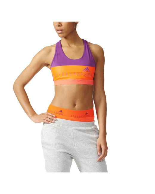 Adidas Stella Sport Padded Training Sports Bra in Purple ...
