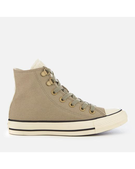 Converse - Natural Chuck Taylor All Star Hi-top Trainers - Lyst
