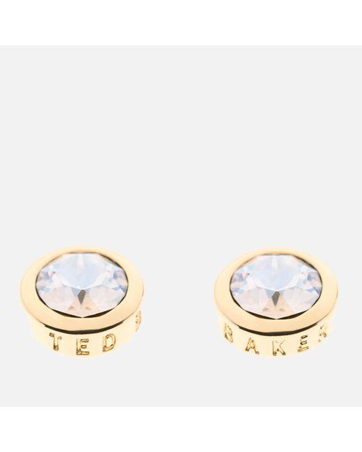 Ted Baker - Metallic Sinaa: Swarovski Crystal Stud Earrings - Lyst