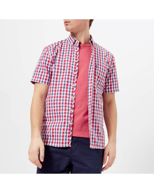 Joules - Red Wilson Short Sleeve Shirt for Men - Lyst