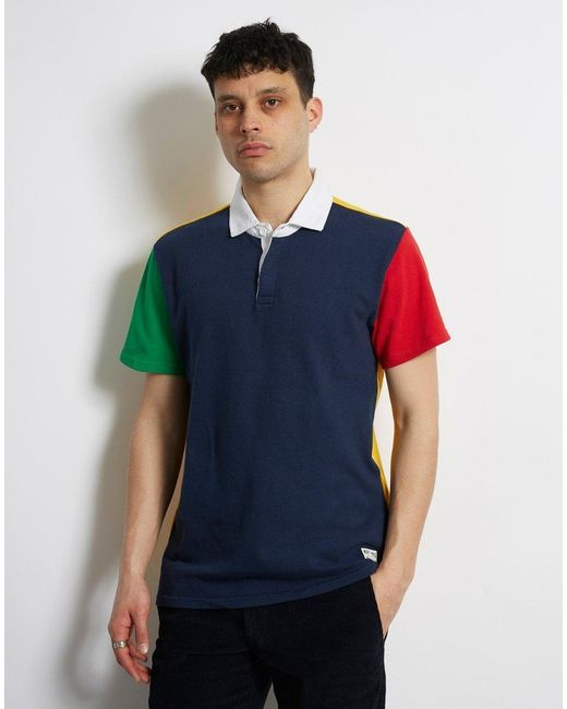 7b716c5855b1 Levi's - Blue Mighty Made Rugby Polo Navy for Men - Lyst ...