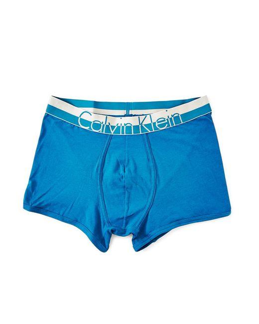 Calvin Klein | Underwear Magnetic Cotton Trunk Blue for Men | Lyst