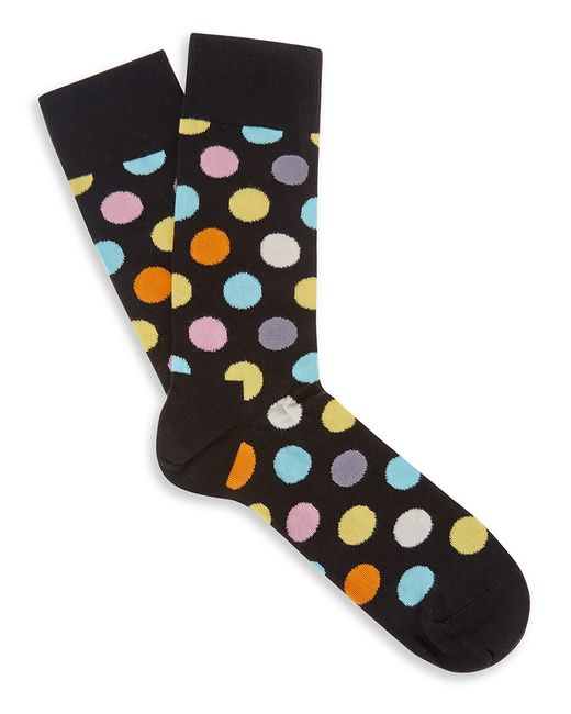 Happy Socks | Black Happy Socks Multi Spot Socks for Men | Lyst