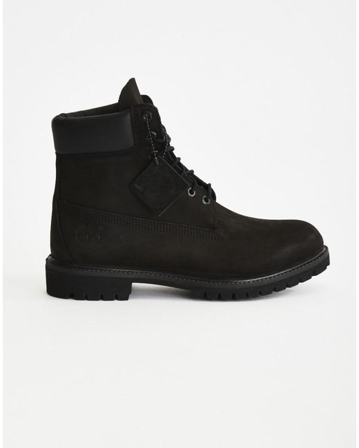 Timberland   Black Icon 6-Inch Leather Boots for Men   Lyst