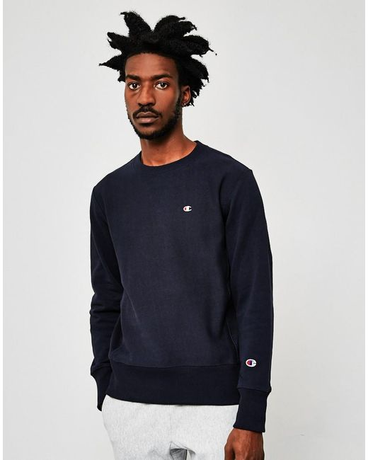 Champion | Blue Classic Reverse Weave Sweatshirt Navy for Men | Lyst