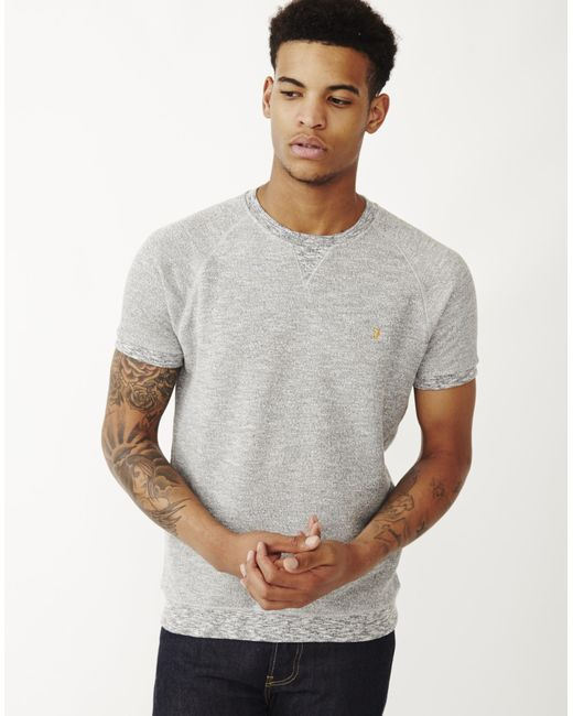 Farah | Natural Morton Short Sleeve Sweatshirt for Men | Lyst