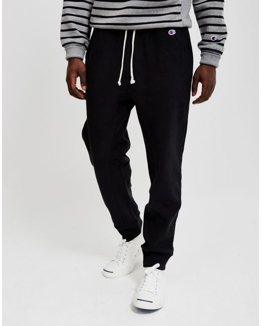 Champion | Reverse Weave 2.0 Rib Cuff Pants Black for Men | Lyst