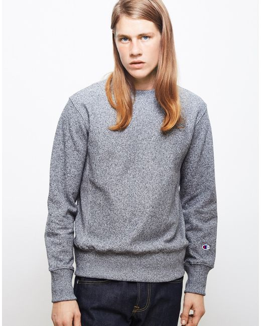 Champion | Gray Reverse Weave Crew Neck Sweatshirt Grey for Men | Lyst