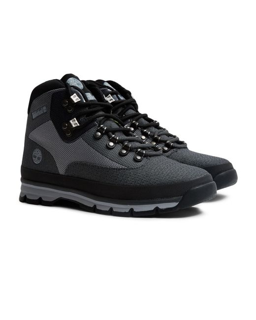 Timberland Euro Hiker Mid Jaquard Grey In Grey For Men