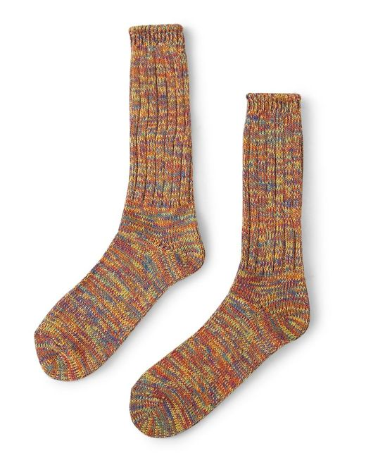 Anonymous Ism | Orange 5 Color Mix Crew Socks for Men | Lyst