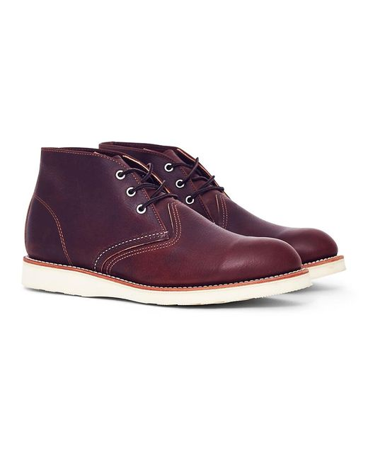 Red Wing - Heritage Work Chukka Brown Men's Mid Boots In Brown for Men - Lyst