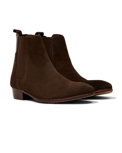 Hudson - Brown Watts Suede Chelsea Boots for Men - Lyst