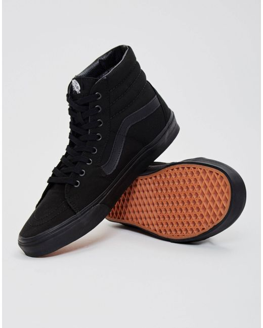 cc05025aa8 Vans Sk8hi Trainers All Black in Black for Men - Save 7% - Lyst