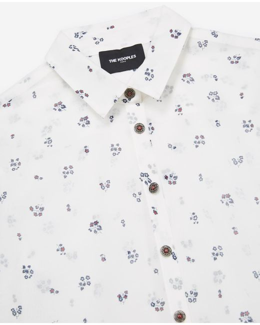 4b0f48c6483a5 The Kooples - Multicolor Ecru Silk And Cotton Shirt With 1950s Flowers  Print - Lyst ...
