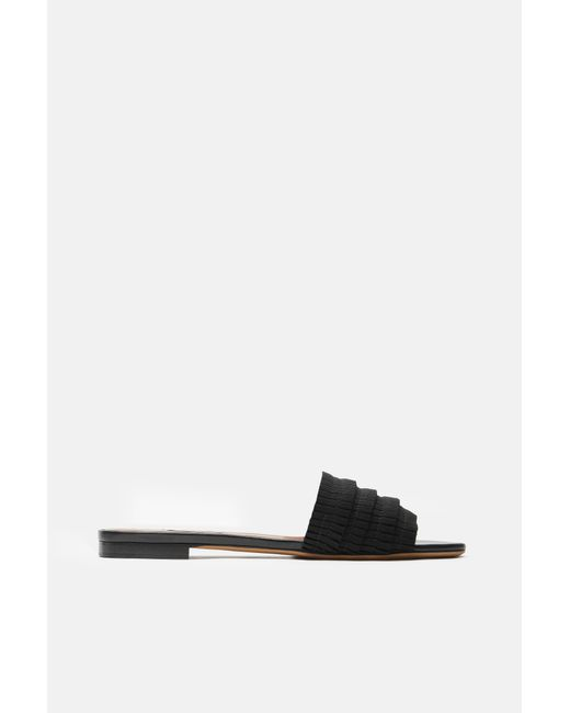 Tabitha Simmons - Black Sprinkles Pleated Grosgrain Flat - Lyst