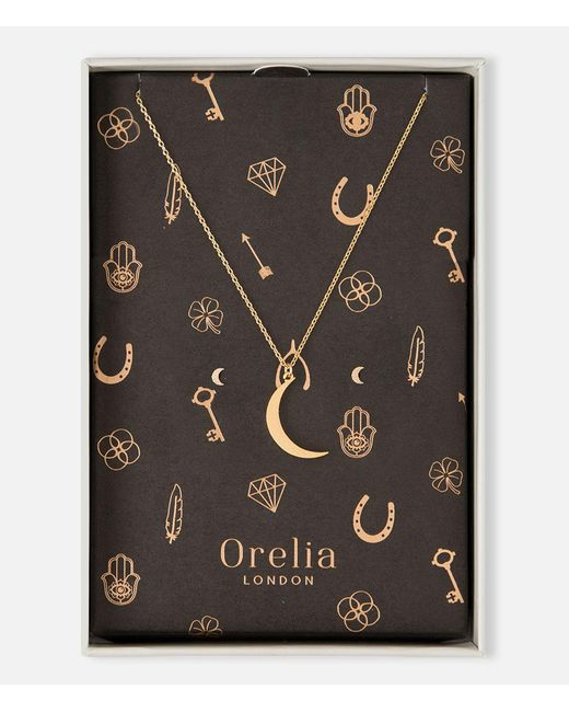 Orelia | Metallic Brushed Moon Giftbox | Lyst