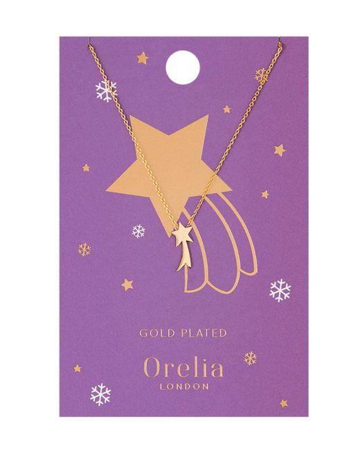 Orelia - Metallic Shooting Star Charm Necklace - Lyst