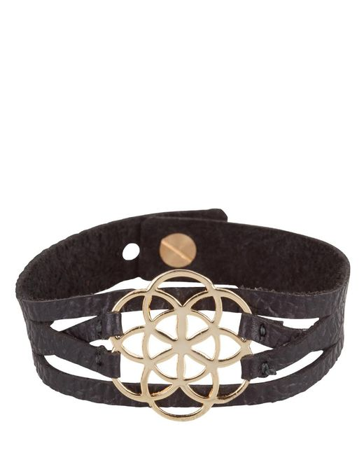MYOMY | Black Flower Of Life Bracelet | Lyst