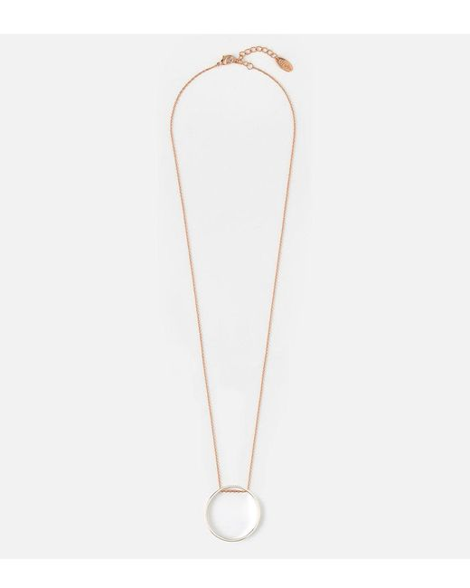 Orelia | Metallic Mix Plate Long Open Circle Necklace | Lyst