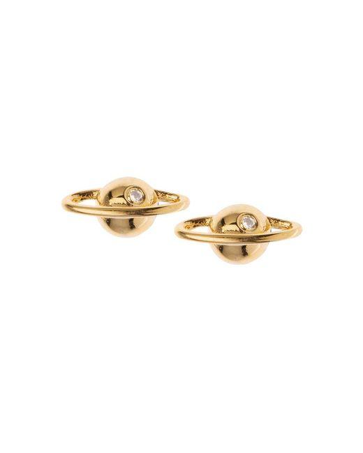 Orelia - Metallic Gold Plated Planet Stud Earrings By - Lyst