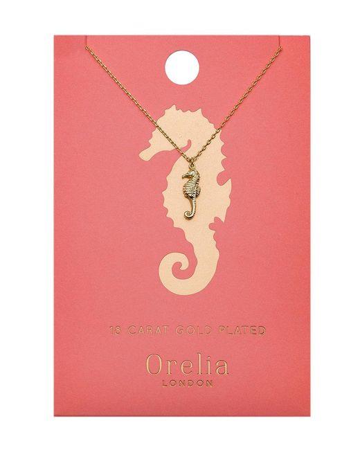 Orelia - Metallic Seahorse Ditsy Necklace - Lyst