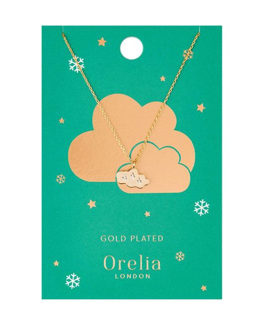 Orelia - Metallic Cloud Charm Necklace - Lyst