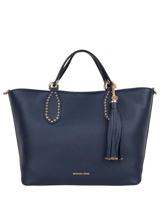 Michael Kors - Blue Brooklyn Large Grab Bag - Lyst
