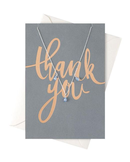 Orelia - Metallic Thank You Drop Necklace Giftcard - Lyst