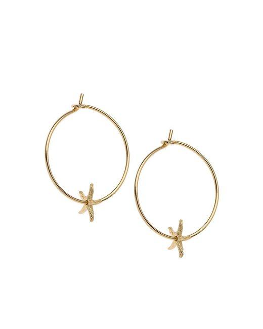 Orelia | Metallic Starfish Charm Hoops | Lyst