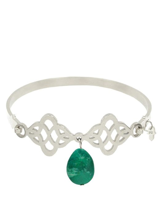 Jewels Must Rock - Metallic Armband Ornament Groen - Lyst