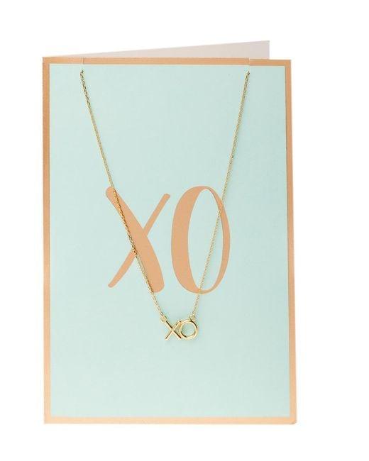 Orelia - Blue Semi Precious Xo Necklace Giftcard - Lyst