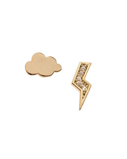 Orelia - Metallic Cloud And Lightening Earrings - Lyst