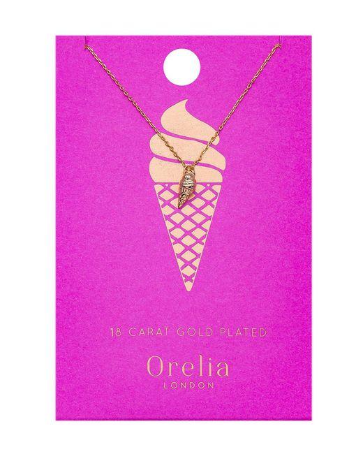 Orelia - Metallic Ice Cream Ditsy Necklace - Lyst