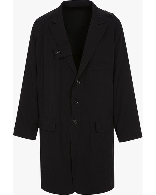 Yohji Yamamoto | Black Reversible Gabardine Jacket for Men | Lyst