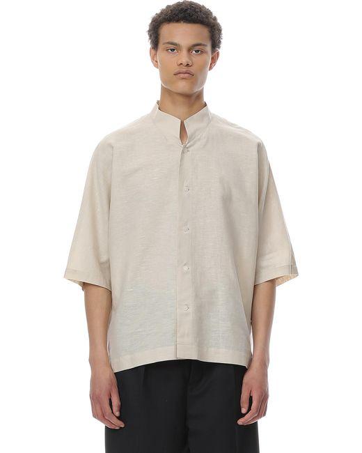 Homme Plissé Issey Miyake - Natural Ss Linen Shirt for Men - Lyst