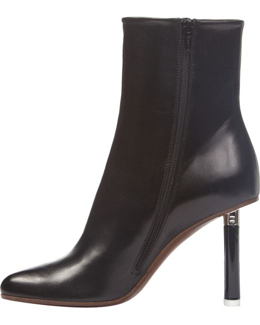 vetements spiked heel leather ankle boots in black save
