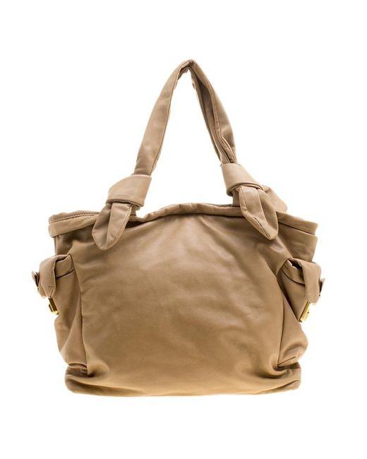 Marc By Marc Jacobs - Natural Camel Leather Shoulder Bag - Lyst