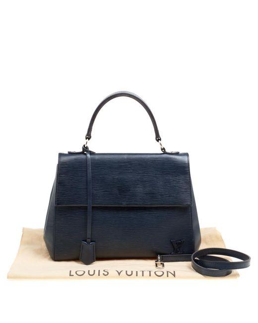 1638d9cee9d5 Lyst Louis Vuitton Saphir Epi Leather Cluny Mm Bag In Blue