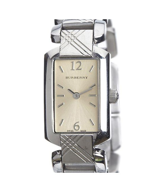 Burberry - Multicolor Silver Stainless Steel Signature Bu4212 Women's Wristwatch 18mm - Lyst