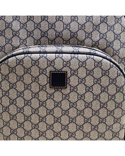 9c5f677ddffa14 ... Gucci - Beige/blue GG Supreme Canvas Trolley Backpack Bag - Lyst ...