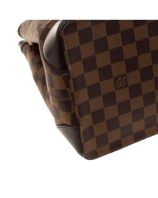 ... Louis Vuitton - Brown Damier Ebene Canvas And Leather Hampstead Pm Bag  - Lyst ... f1c0c2a874ae3