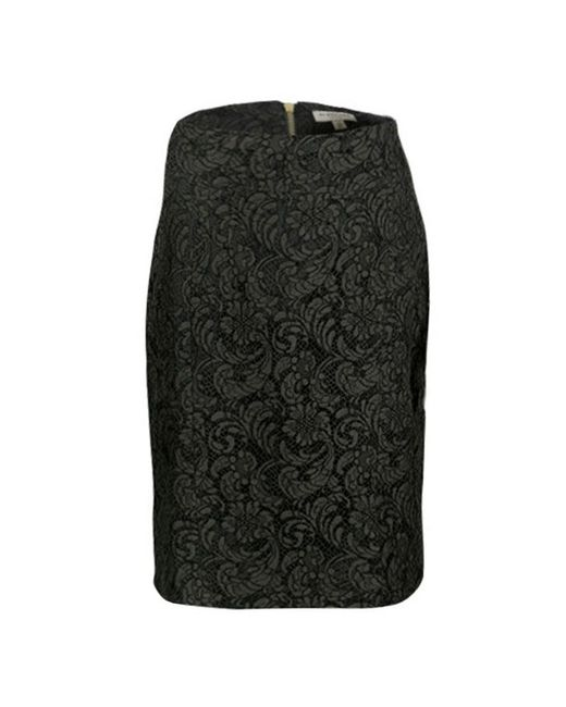 Burberry - Green London Olive Floral Lace Pencil Skirt S - Lyst
