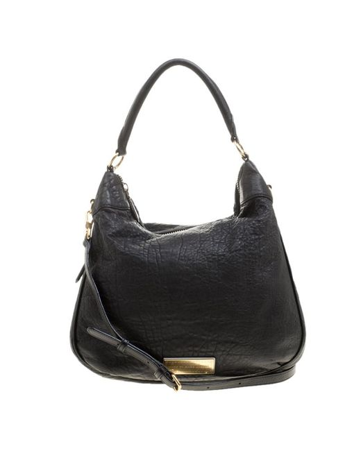 Marc By Marc Jacobs - Black Pebbled Leather Zip Around Hobo - Lyst