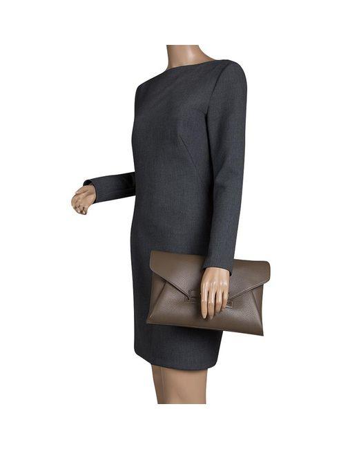 3e9cb663bac8 ... Givenchy - Natural Dark Leather Medium Envelope Antigona Clutch - Lyst  ...