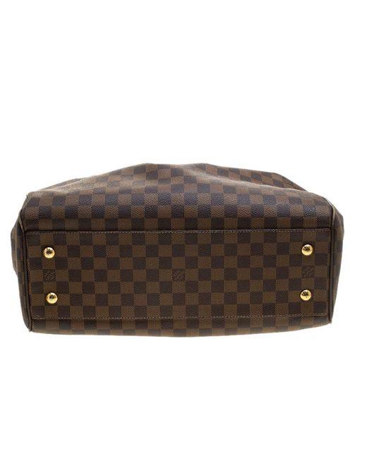 5934bb07327b ... Louis Vuitton - Brown Damier Ebene Canvas Trevi Gm Bag - Lyst ...