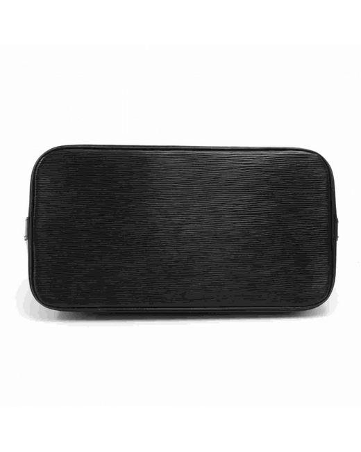 27c7c9dff5e ... Louis Vuitton - Black Noir Epi Leather Alma Pm Bag - Lyst ...